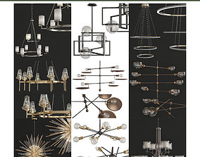 game-ready Chandeliers 3d models Collection 10 pieces