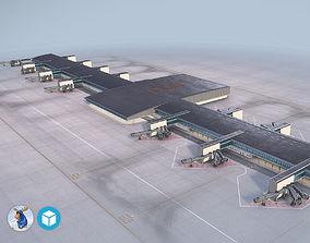 3D model Airport Terminal Satellite4 LFPG