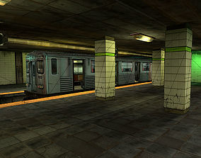 3D model Subway Metro Station