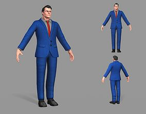 3D model realtime Business Suit Man
