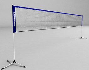 3D asset game-ready Badminton net low poly