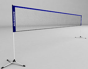 3D asset game-ready Badminton net low poly