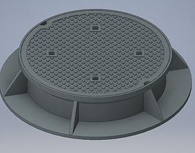 3D model Manhole cover headring