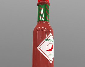 3D model Hot Sauce Bottle