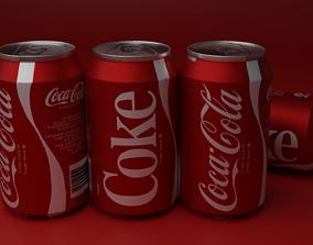 3D asset low-poly COCA-COLA CAN