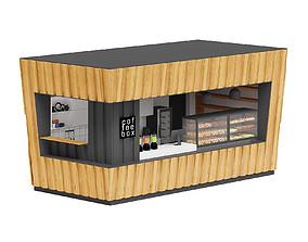 Coffee Kiosk 3D Model market