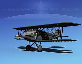 Albatross DIII Fighter war 3D model rigged