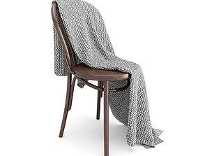 3D model Thonet Chair and Moyha Blanket