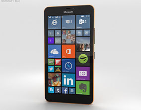 Microsoft Lumia 640 XL Orange 3D