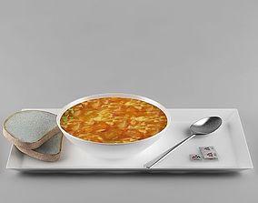 Soup 03 3D bread