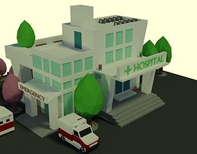 3D model low-poly Low Poly Hospital