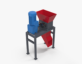 Mini industrial shredder 3D model