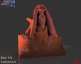 Stylized Saruman Timelapse and Model