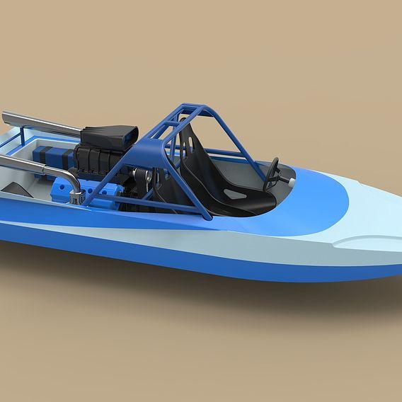 Jet sprint boat