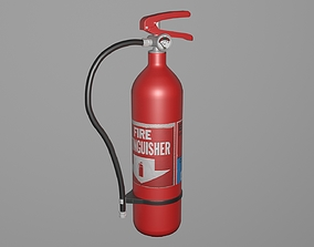 Fire Extinguisher safety 3D model VR / AR ready