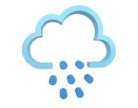 3D asset Weather Symbol v10 004