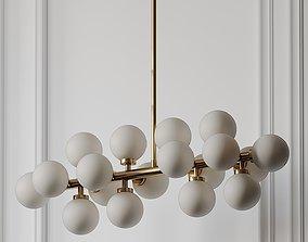 CWI Lighting Arya 16-Light Satin Gold Chandelier 3D model