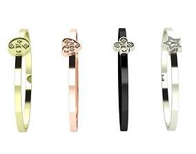 3D print model luis vuitton bracelet set 4 in 1