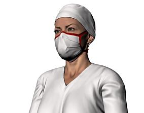 a nurse named Sienna 3D model