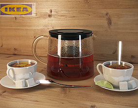 Kettle and Cup of tea 3D model