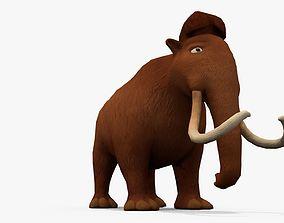 3D asset realtime Cartoon mammoth
