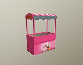 3D model ice cream booth