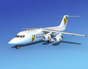 BAe 146-200 British European 3D