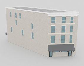 3D asset Four-storey town house