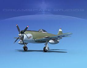 Republic P-47D Thunderbolt V03 3D model