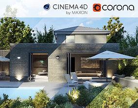 Corona - C4D Scene files - House Jackson 3D model