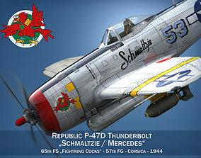 Republic P-47D Thunderbolt - 3D model