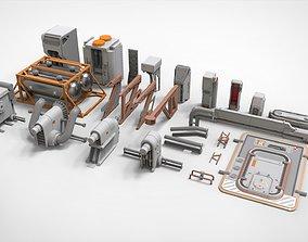 sci-fi Architecture kitbash 28 3D model