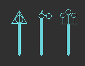 3D print model Harry Potter Bookmarks - Deathly Hallows 3