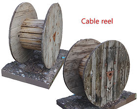 3D Cable reel Scan scanned