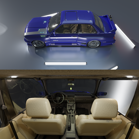 Low-Poly Cyberpunk car
