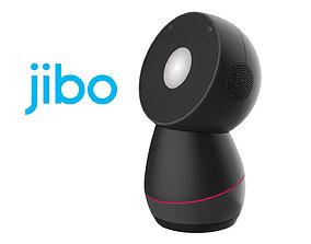 modern Jibo Robot Dark Gray 3D model