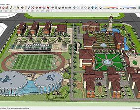 3D model Sketchup school H3