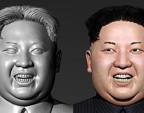 3D politicians Kim Jong-un