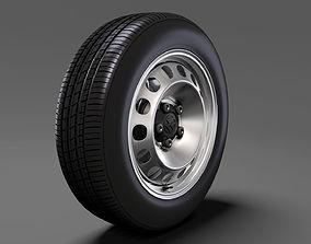 3D model Volkswagen Caddy Panel Van wheel 2017