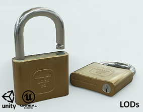 3D model Game-ready Padlock - Texture sets for Unity and