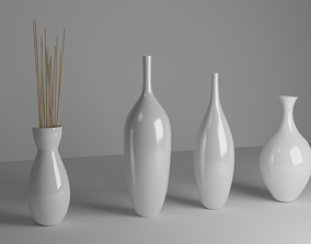 Modern Decorative Vases 3D model VR / AR ready