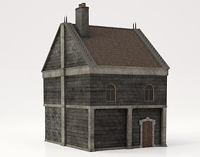 3D model game-ready Victorian House