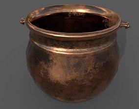 Medieval Copper Cooking Pot 3D asset