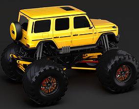 3D model Monster Truck Mercedes AMG G 65