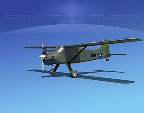 3D model Dehaviland DH-2 Beaver US Army 4