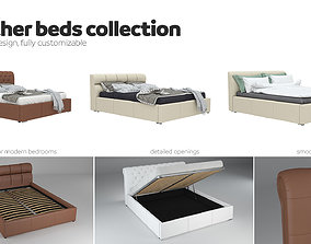 Beds collection - 3 pack - leather 3D