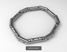 cylinder bracelet -curved and straight 3D model