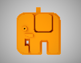 decoration Abstract Elephant Necklace 3D printable model
