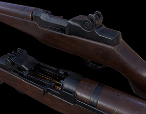 3D model game-ready M1 Garand - Game and VR Ready