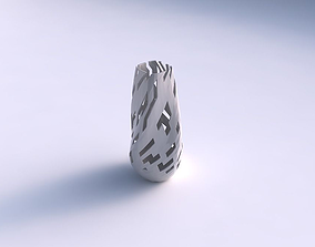3D printable model Bottom wide vase helix with cuts